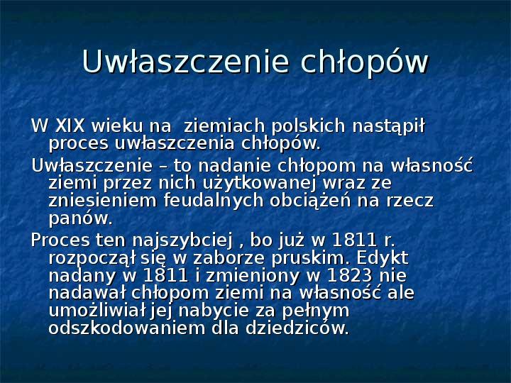 Sytuacja gospodarcza ziem polskich pod zaborami - Slajd 1