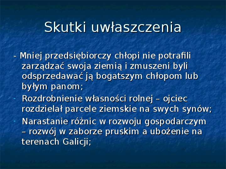 Sytuacja gospodarcza ziem polskich pod zaborami - Slajd 6