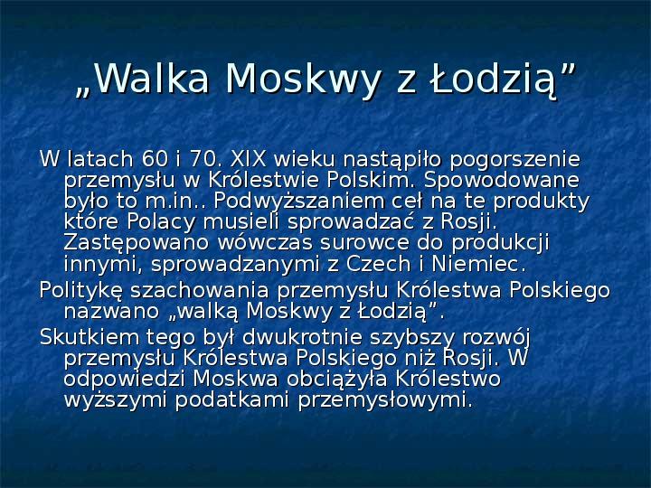 Sytuacja gospodarcza ziem polskich pod zaborami - Slajd 8
