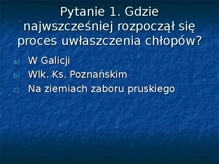 Sytuacja gospodarcza ziem polskich pod zaborami - Slajd 14