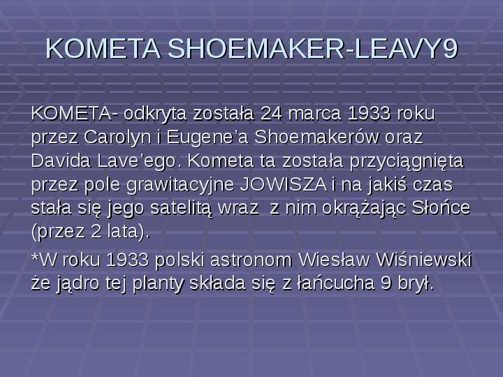 Tajemnica komet - Slajd 9