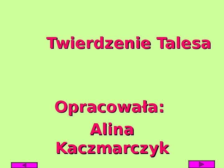 Twierdzenie Talesa - Slajd 1