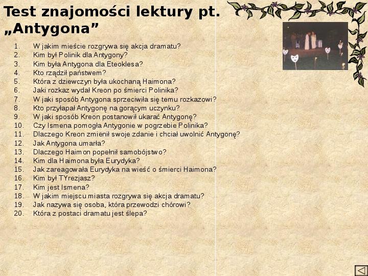 Teatr i Antygona - Slajd 2