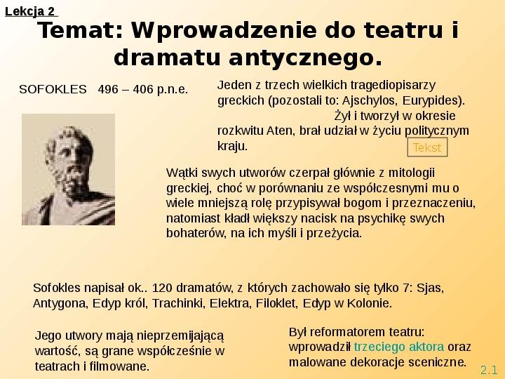 Teatr i Antygona - Slajd 4