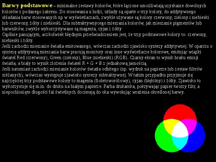 Tęcza - barwy podstawowe i pochodne - Slajd 8