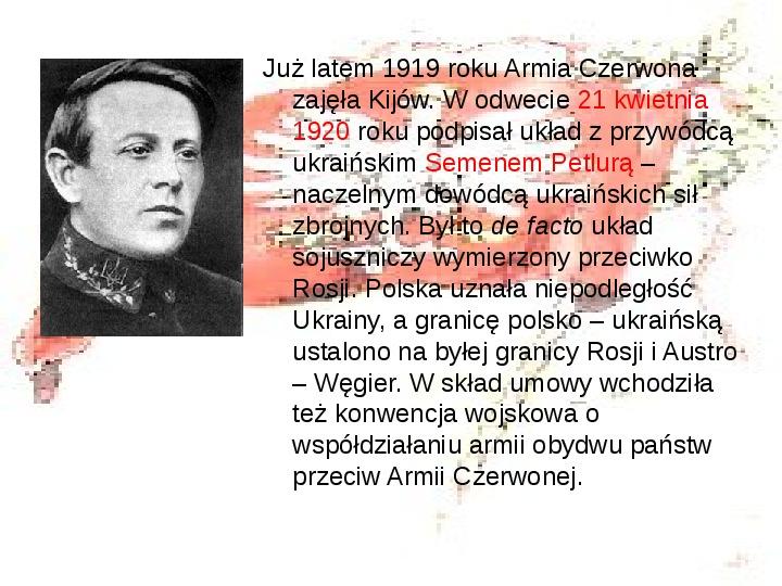 Walka o granice II RP w latach 1919-21 - Slajd 2