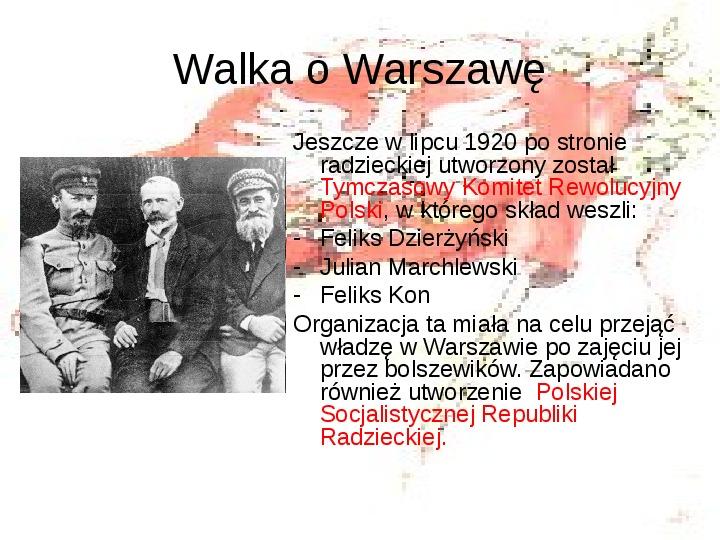 Walka o granice II RP w latach 1919-21 - Slajd 5
