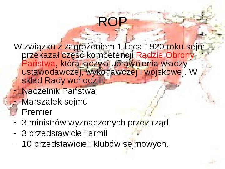 Walka o granice II RP w latach 1919-21 - Slajd 7