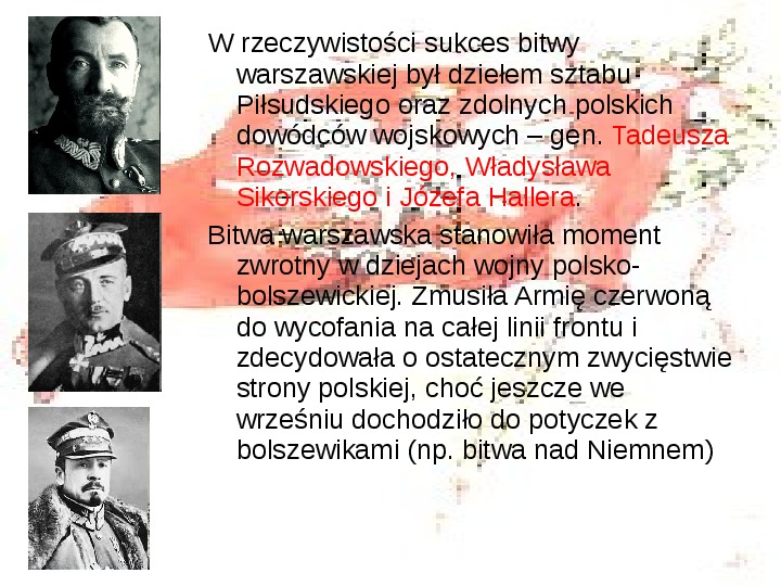 Walka o granice II RP w latach 1919-21 - Slajd 12