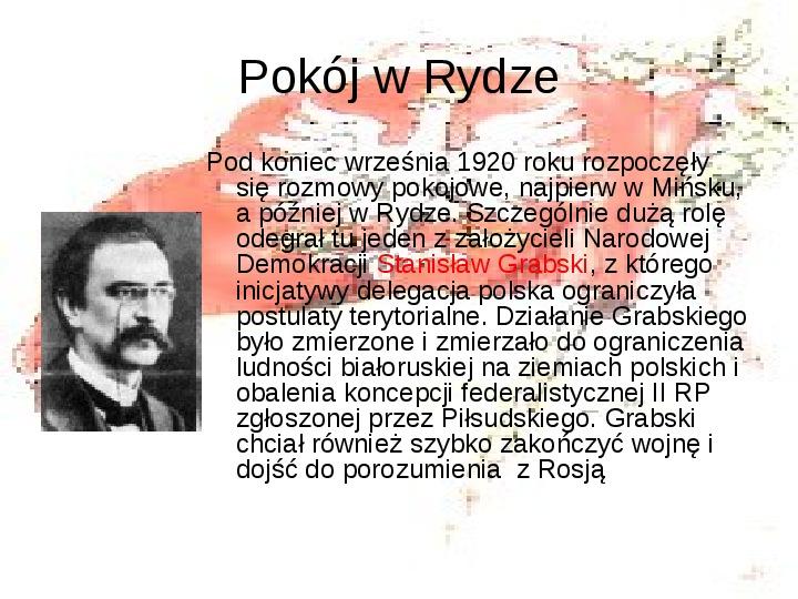 Walka o granice II RP w latach 1919-21 - Slajd 13