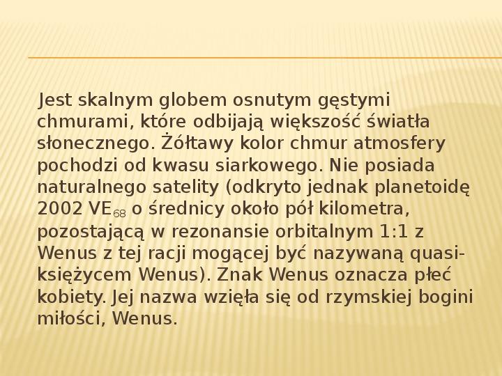 Wenus - Slajd 3