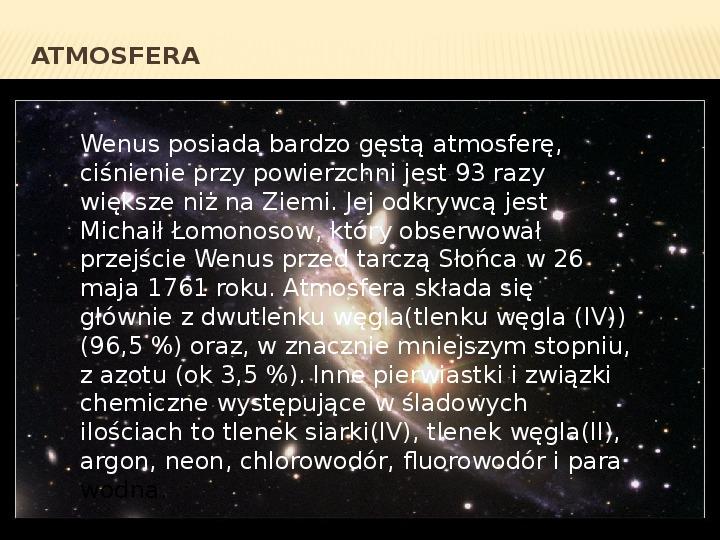 Wenus - Slajd 6