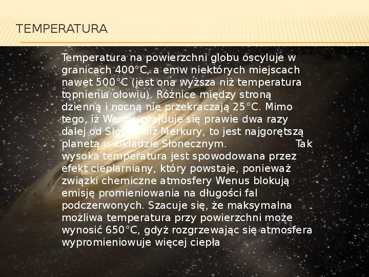 Wenus - Slajd 7