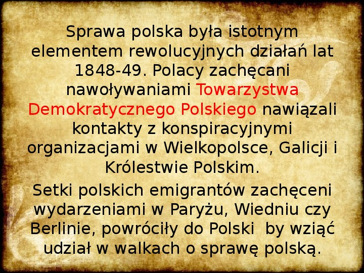 Wiosna Ludów na ziemiach polskich - Slajd 1