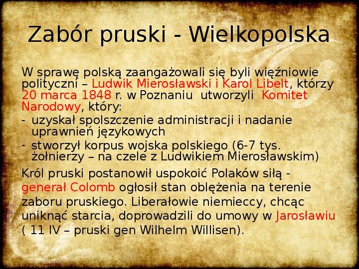 Wiosna Ludów na ziemiach polskich - Slajd 2