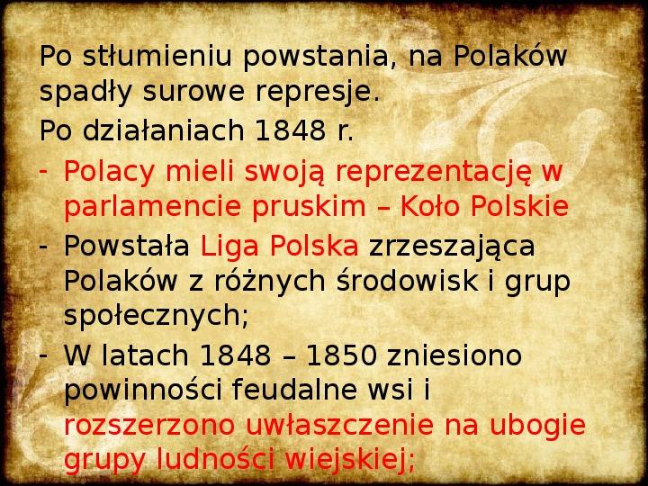 Wiosna Ludów na ziemiach polskich - Slajd 4