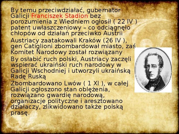 Wiosna Ludów na ziemiach polskich - Slajd 6