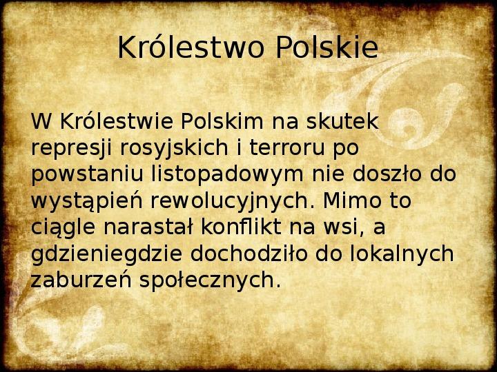 Wiosna Ludów na ziemiach polskich - Slajd 7