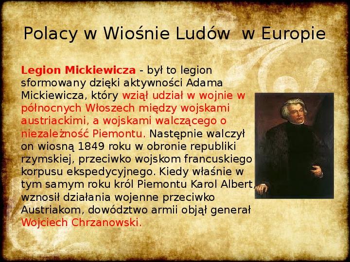 Wiosna Ludów na ziemiach polskich - Slajd 9