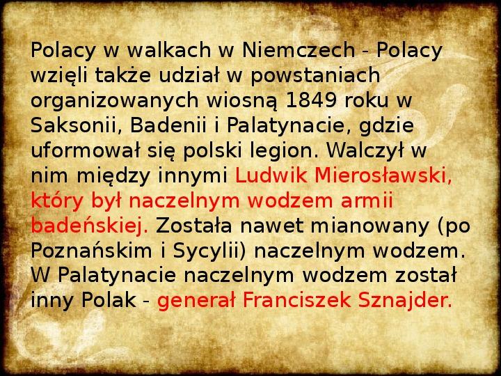 Wiosna Ludów na ziemiach polskich - Slajd 11