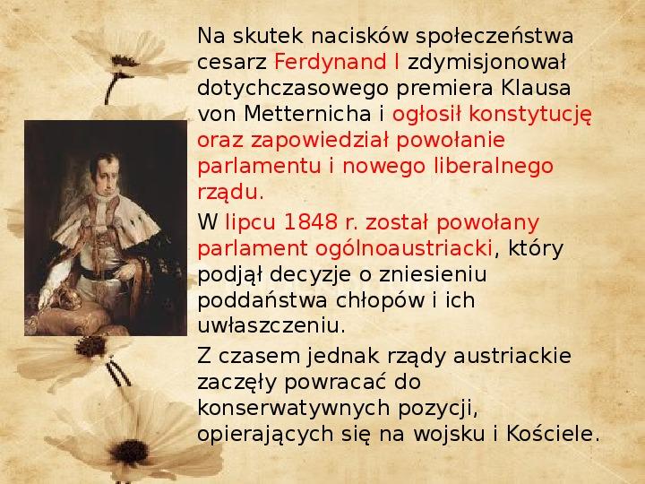Wiosna Ludów w Europie 1848 – 49 - Slajd 11