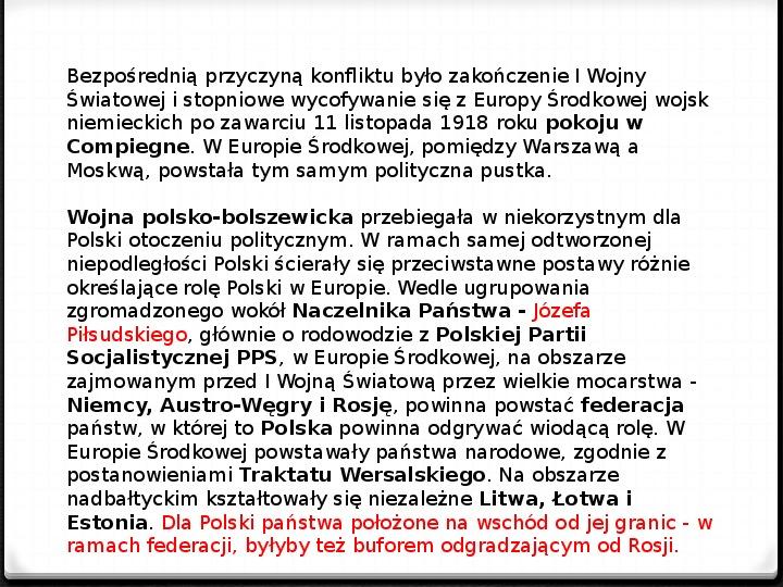 Wojna polsko - bolszewicka - Slajd 2