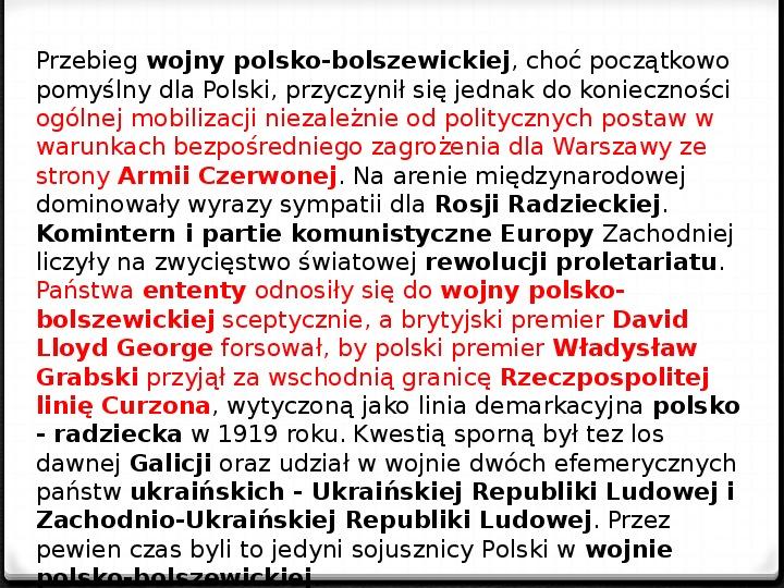 Wojna polsko - bolszewicka - Slajd 4