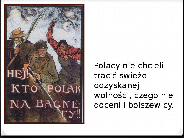 Wojna polsko - bolszewicka - Slajd 7