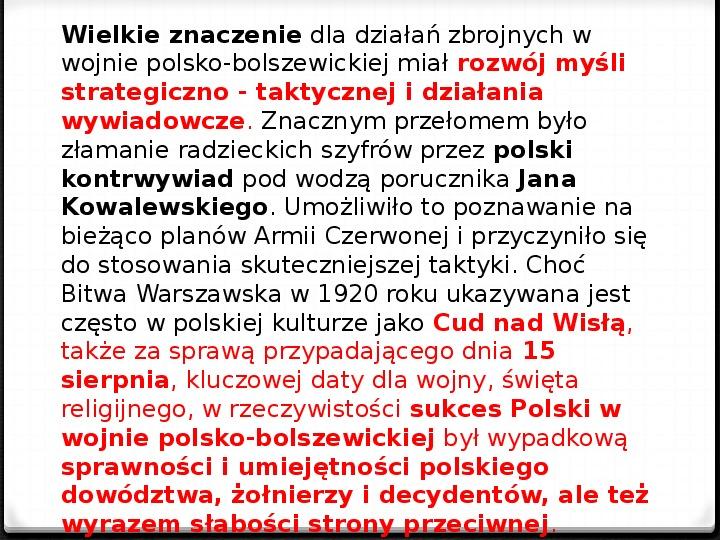 Wojna polsko - bolszewicka - Slajd 18