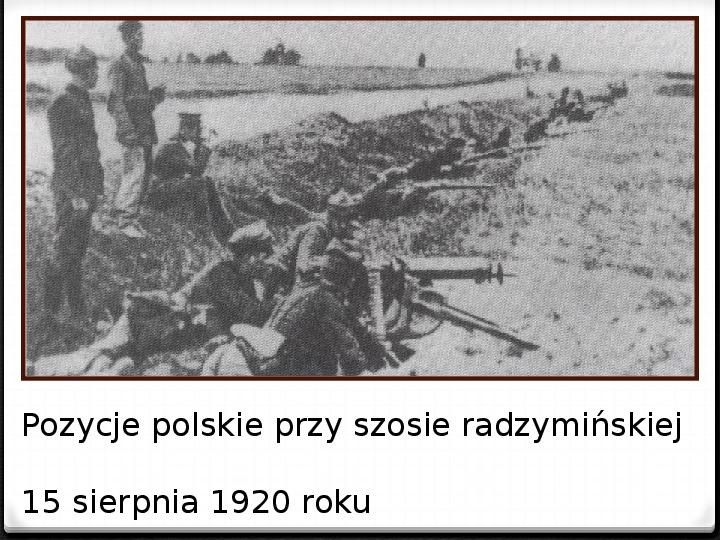 Wojna polsko - bolszewicka - Slajd 19