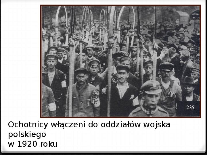 Wojna polsko - bolszewicka - Slajd 21