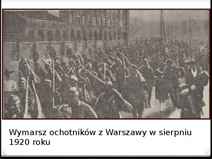 Wojna polsko - bolszewicka - Slajd 22