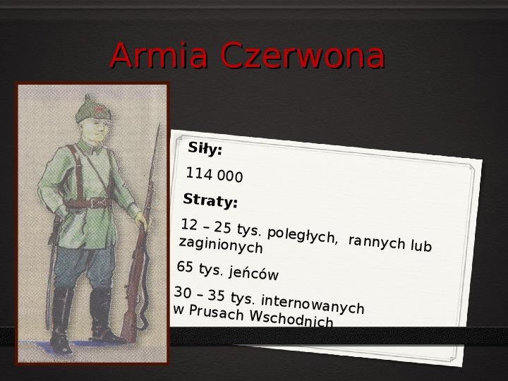 Wojna polsko - bolszewicka - Slajd 25