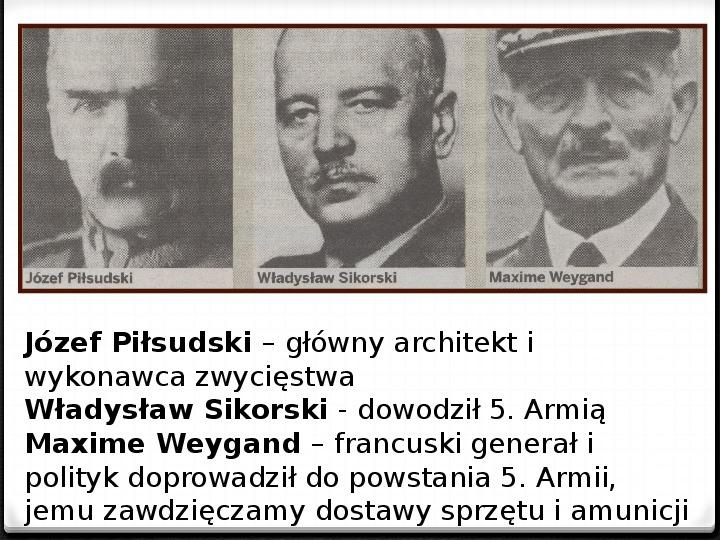 Wojna polsko - bolszewicka - Slajd 35