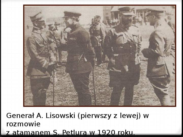 Wojna polsko - bolszewicka - Slajd 36
