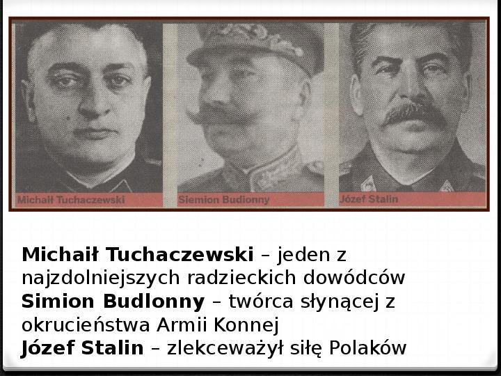 Wojna polsko - bolszewicka - Slajd 42