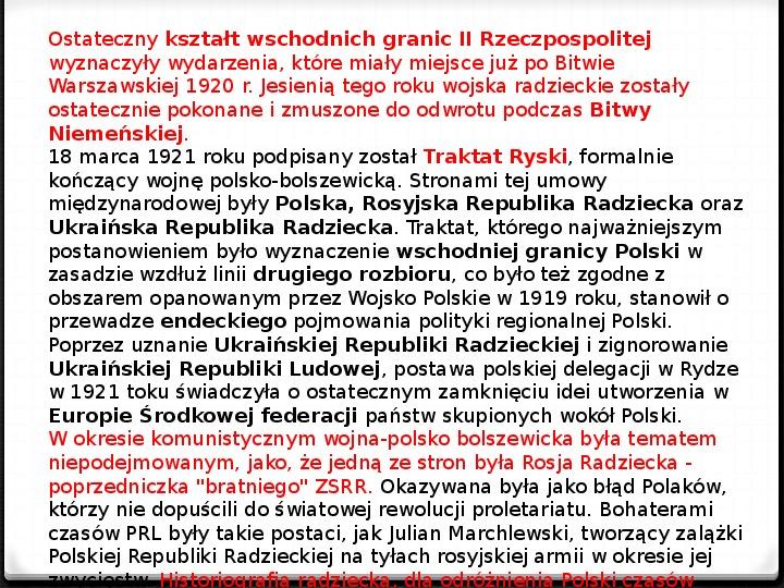 Wojna polsko - bolszewicka - Slajd 45