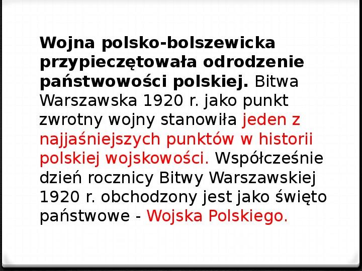 Wojna polsko - bolszewicka - Slajd 46