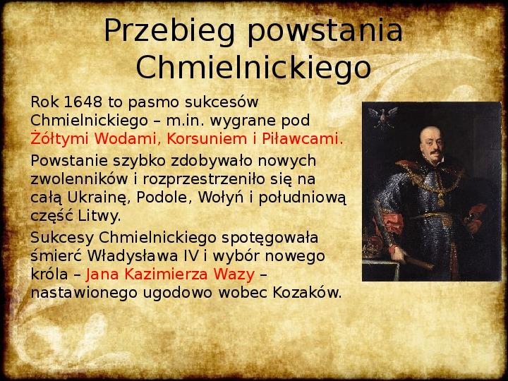 Wojny Rzeczpospolitej w 2 poł. XVII wieku - Slajd 7