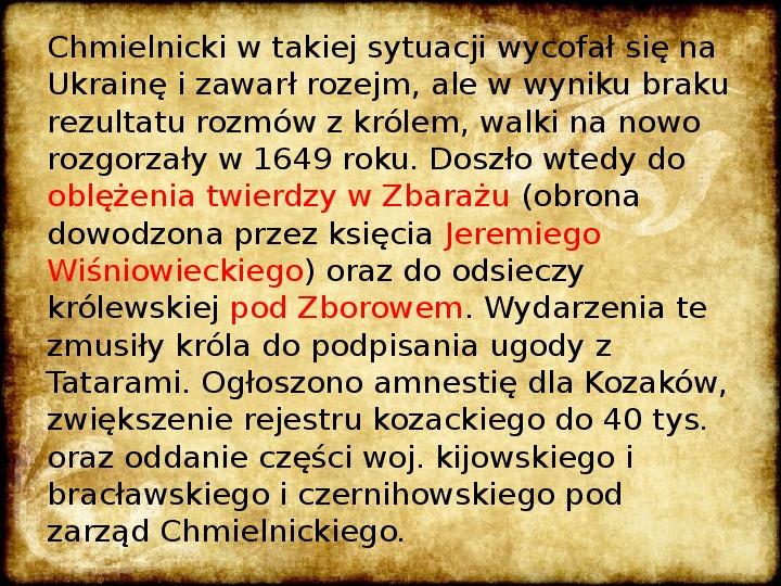 Wojny Rzeczpospolitej w 2 poł. XVII wieku - Slajd 8
