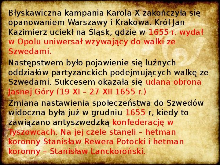 Wojny Rzeczpospolitej w 2 poł. XVII wieku - Slajd 14