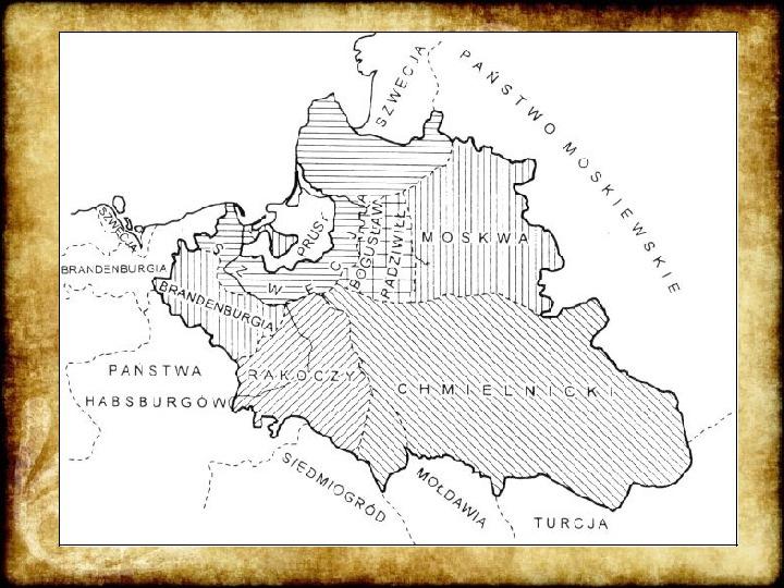 Wojny Rzeczpospolitej w 2 poł. XVII wieku - Slajd 18
