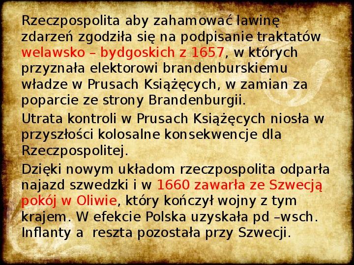 Wojny Rzeczpospolitej w 2 poł. XVII wieku - Slajd 19