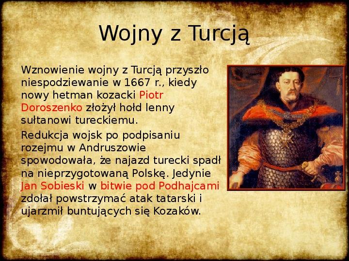 Wojny Rzeczpospolitej w 2 poł. XVII wieku - Slajd 20