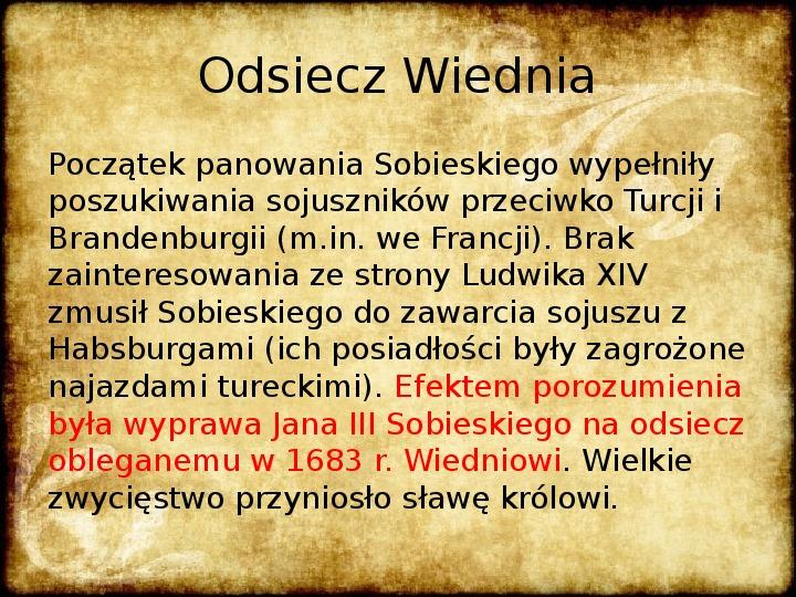 Wojny Rzeczpospolitej w 2 poł. XVII wieku - Slajd 24