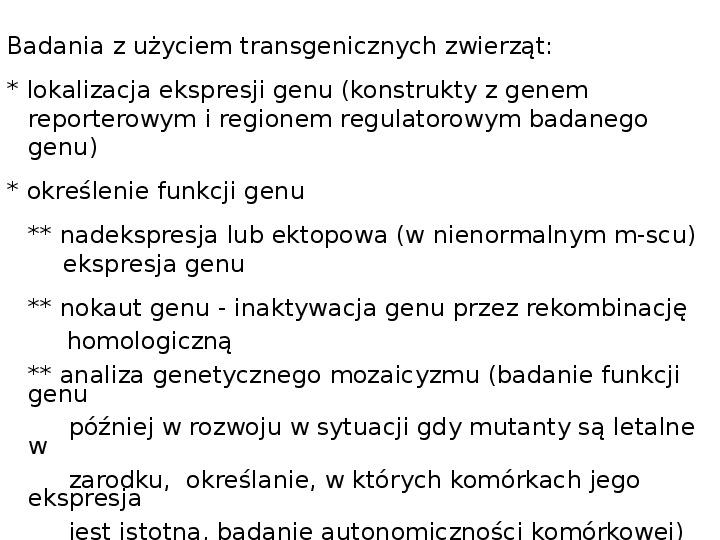 Technologia transgeniczna - Slajd 1