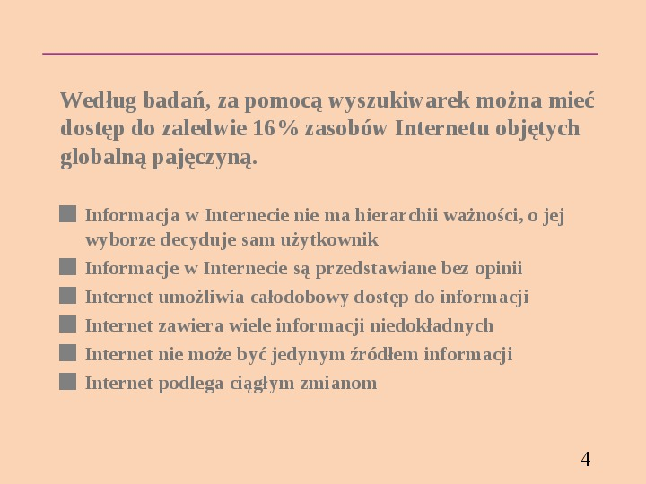 Wyszukiwanie informacji w Internecie - Slajd 3