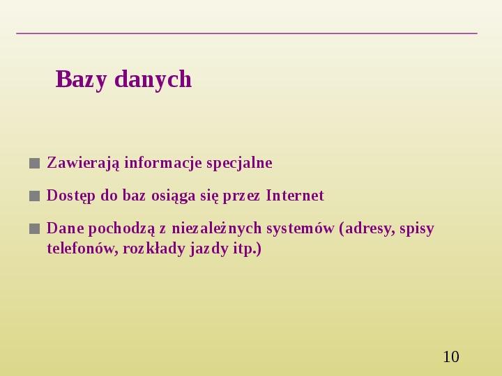 Wyszukiwanie informacji w Internecie - Slajd 9
