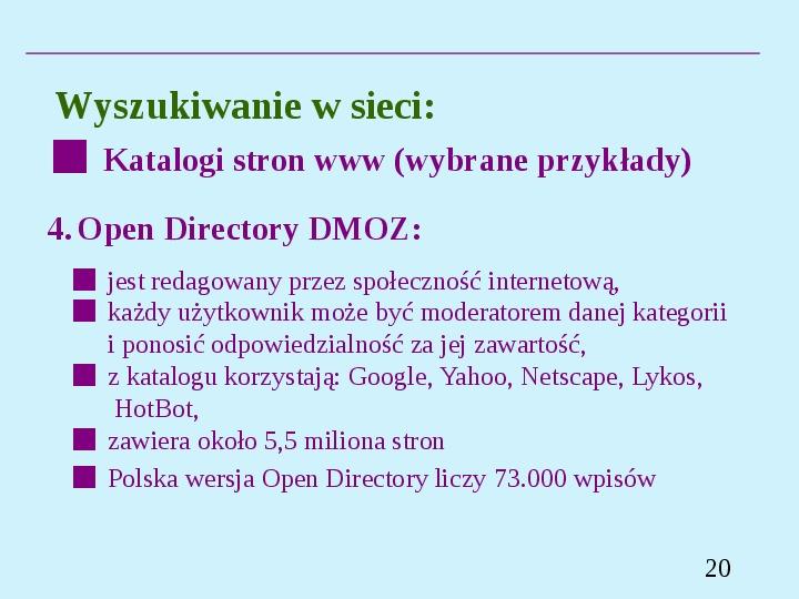 Wyszukiwanie informacji w Internecie - Slajd 19