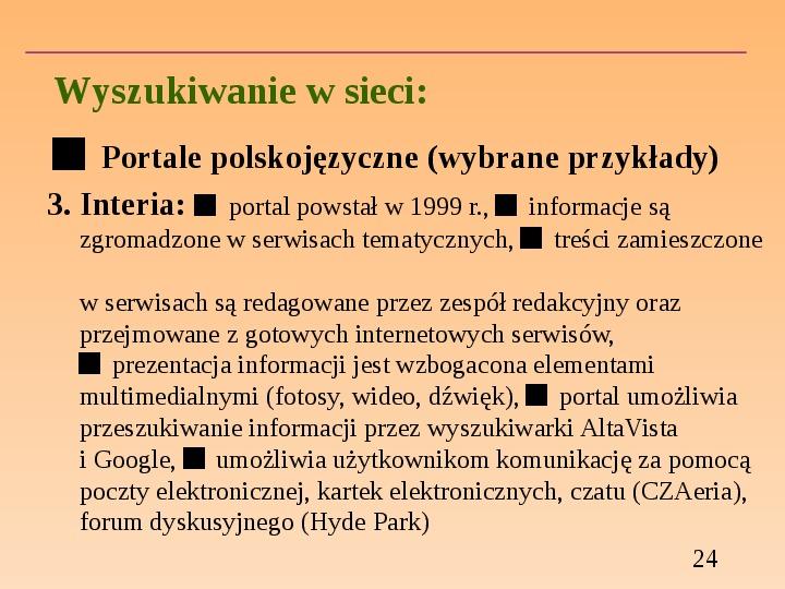 Wyszukiwanie informacji w Internecie - Slajd 23